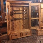 8 to 10-Gun Horizontal Cabinet (Hickory)