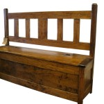 long slat-back settle (ash and walnut)