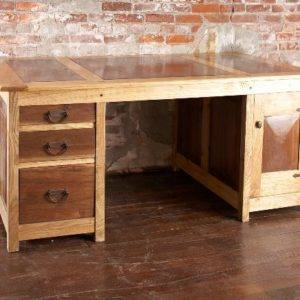 Partners Desk in Ash and Walnut