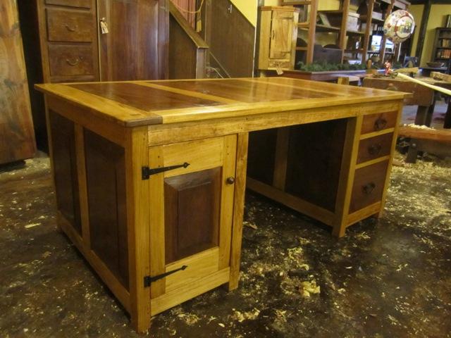 Partner's Desk (Poplar and Walnut)