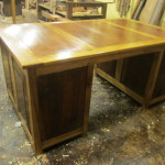 Partners Desk Single Sided (Poplar and Walnut)