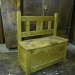 Short Slat-Back Bench