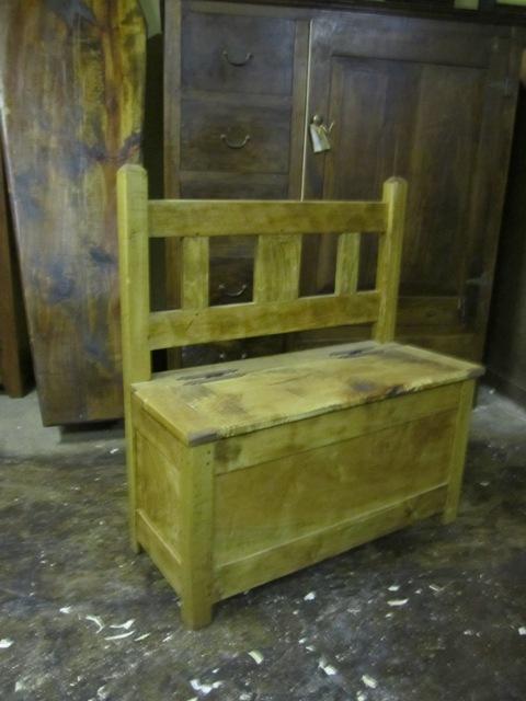 Short Slat-Back Bench
