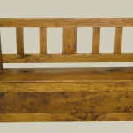 slat-back settle (ash)