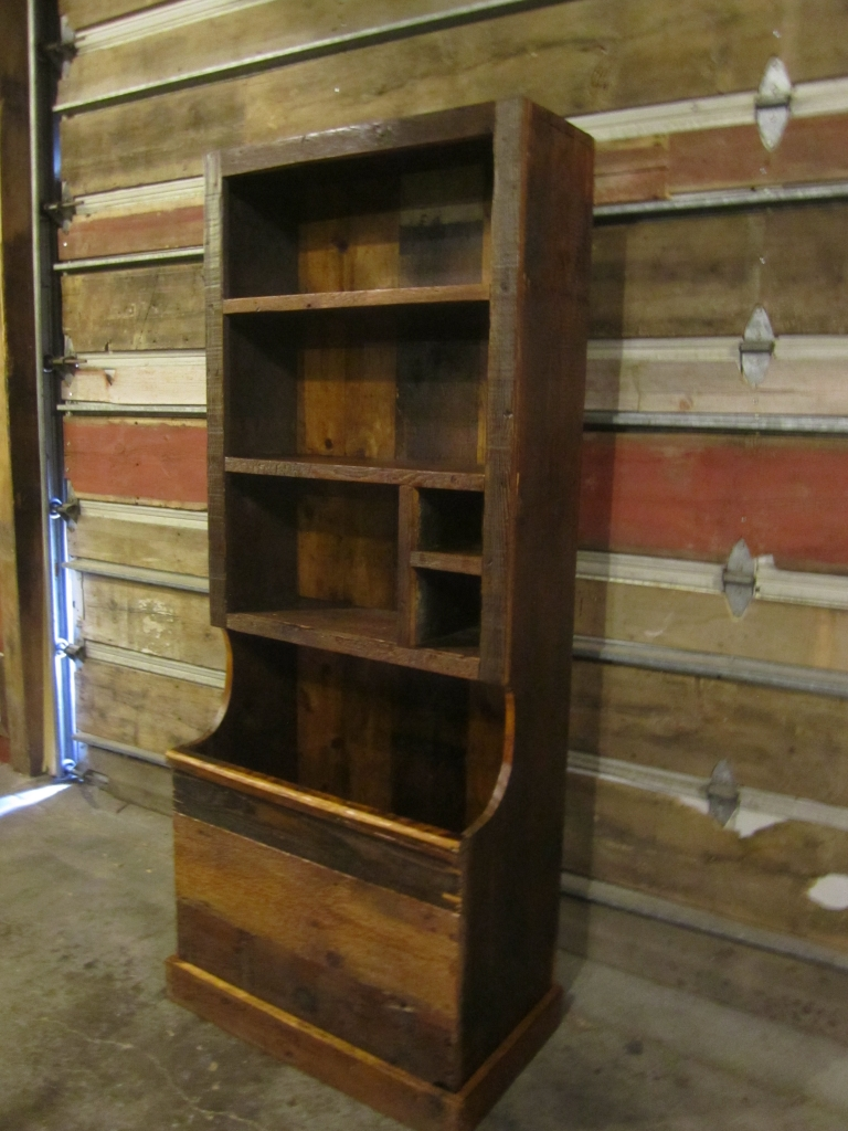 Woodbox Bookcase (Reclaimed Barn Wood)